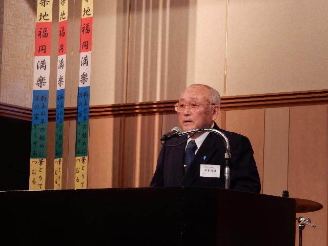 第7回秋田・美郷町ふるさと会の風景(会長挨拶)