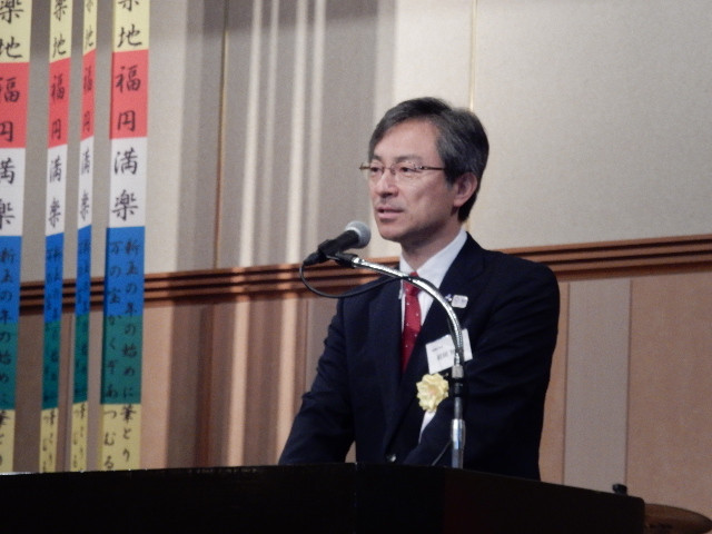 第7回秋田・美郷町ふるさと会の風景(来賓挨拶)