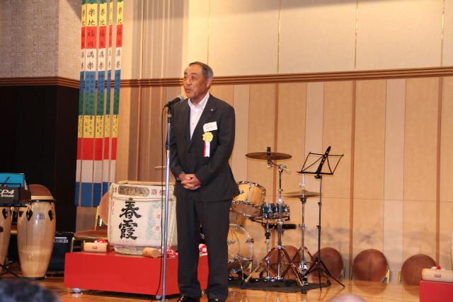 第7回秋田・美郷町ふるさと会の風景(来賓祝辞)